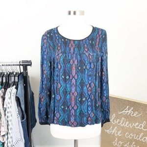 Forever 21 eclectic print top
